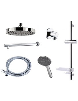 Triton Circular Dual Control Mixer Shower Combination Pack 2
