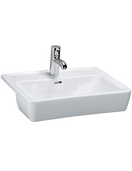 Laufen Pro A 560mm x 440mm Semi Recessed Basin With 1 Tap Hole