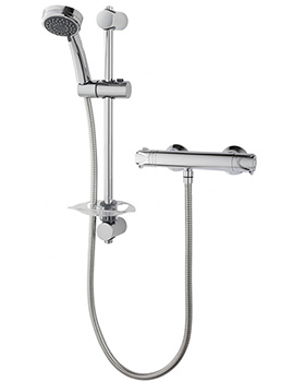 Triton Dene Chrome Cool Touch Bar Mixer Valve With Shower Set