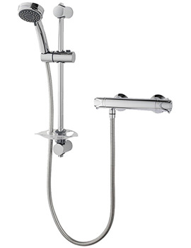 Triton Dene Hi-Flo Bar Mixer Shower Valve With Shower Kit