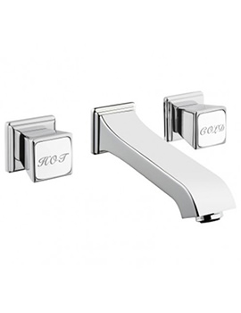 VitrA Elegance Wall Mounted Built In Basin Mixer Tap Chrome