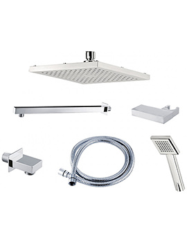 Triton Square Edge Dual Control Mixer Shower Combination Pack 3