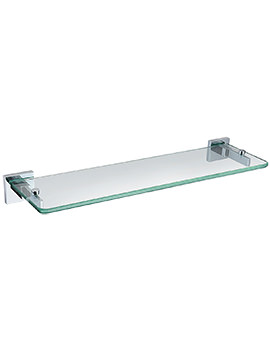 Bristan Square Glass Shelf