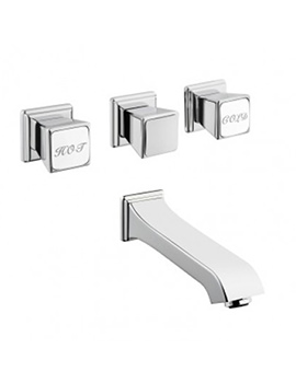 VitrA Elegance 4 Hole Built In Bath Shower Mixer Tap Chrome