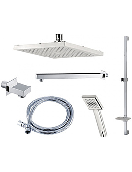 Triton Square Edge Dual Control Mixer Shower Combination Pack 4