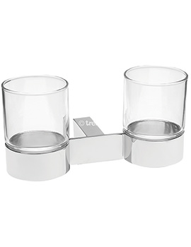 Tre Mercati Edge Wall Mounted Double Glass Holder