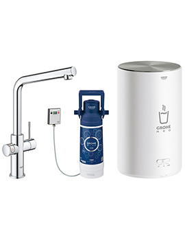 Grohe Red Duo Chrome Kitchen Sink Mixer Tap With M Size Boiler