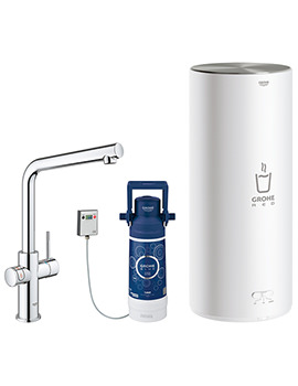 Grohe Red Duo Kitchen Sink Mixer Tap With L Size Boiler