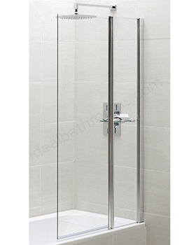 Essential Spring Square Bath Screen With Fixed Panel 900 x 1500mm