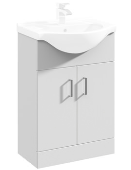 Premier Mayford 2 Door Floor Standing 550mm Bathroom Storage With Basin 1