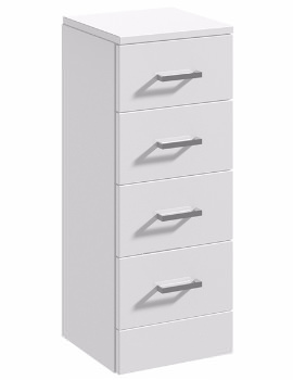 Essential Alaska Floorstanding 4 Drawer Unit - 350mm Wide