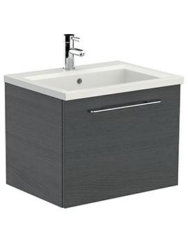 Saneux Austen 600mm Alaska Soft Close Drawer Unit With X ACT Washbasin