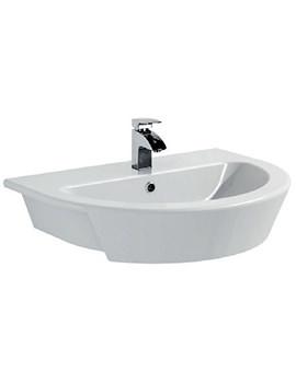 Saneux Austen 550mm Semi Recessed Washbasin