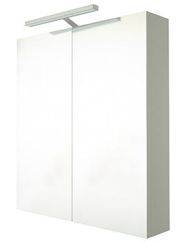 Saneux Austen 600mm 2 Door Mirror Cabinet With Light