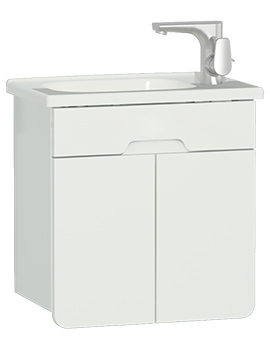 VitrA D-Light 500mm Matt White Unit With Washbasin