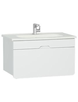 VitrA D-Light 900mm Matt White Vanity Unit With Washbasin