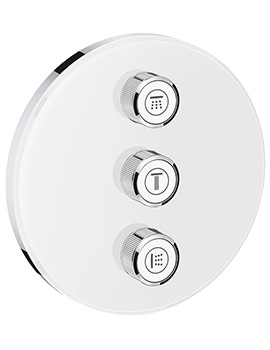 Grohe Grohtherm SmartControl Moon White 3 Volume Control Trim