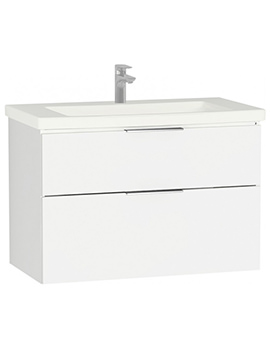 VitrA Ecora 900 x 500mm Compact White Vanity Unit And Basin