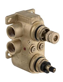 Vado Shower Valve Body For 2 Outlet 2 Handle Concealed Thermostatic Shower Valve