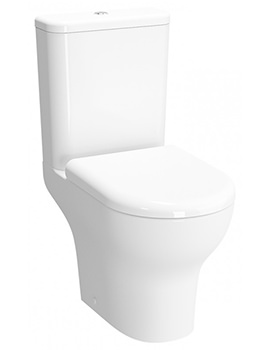 VitrA Zentrum 610mm Rim-Ex Open-Back Close Coupled WC Pan With Cistern