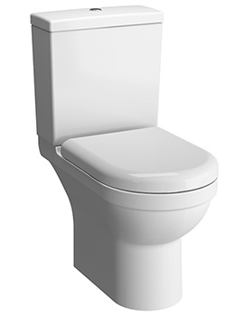 VitrA S50 650mm Rim-Ex Open-Back Close Coupled WC Pan With Cistern
