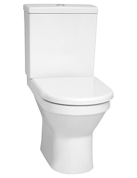 VitrA S50 655mm Rim-Ex Back-To-Wall Close Coupled WC Pan With Cistern