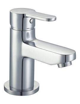 Mayfair Focus Chrome Mono Basin Mixer Tap With Click Clack Waste