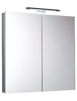 Saneux Ice 750mm Mirror Cabinet With LED Light