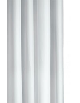 Croydex White Textile Hook N Hang Shower Curtain