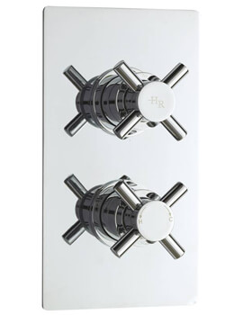 Hudson Reed Kristal Twin Concealed Thermostatic Shower Valve