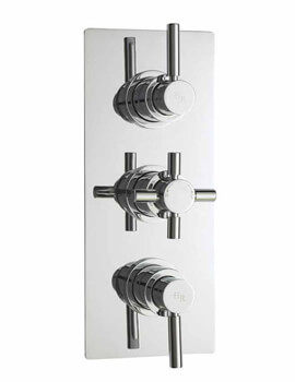 Hudson Reed Tec Pura Plus 3 Control Thermostatic Valve With Diverter
