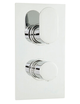 Hudson Reed Reign Chrome Twin Concealed Thermostatic Shower Valve