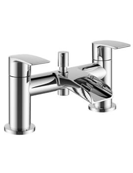 Mayfair Glide Deck Mounted Open Spout Bath Shower Mixer Tap With Kit