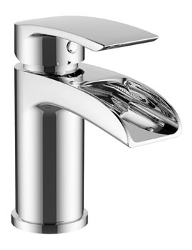Mayfair Glide Open Spout Basin Mixer Tap With Click Clack Waste Chrome