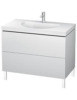 Duravit L-Cube 1000mm Floor Standing Vanity Unit With C-Bonded Washbasin