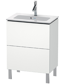 Duravit L-Cube 620mm Floor Standing Compact Vanity Unit With Me By Starck Basin