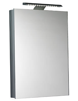 Saneux Ice 500mm Wide Hinged Door Mirror Cabinet With LED Light