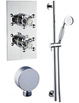 Mayfair Oxford Concealed Thermostatic Shower Valve And Slide Rail Kit