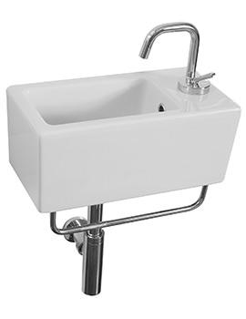 Saneux Quadro 400mm Wall Hung Washbasin