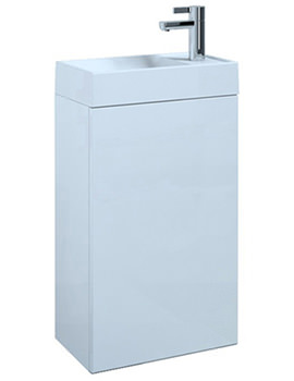 Saneux Quadro Gloss White Wall Mounted Unit With Basin