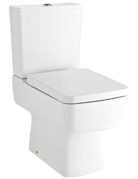 Premier Bliss Close Coupled Compact Semi Flush To Wall Pan With Cistern 615mm