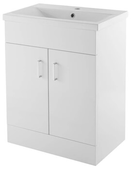 Lauren Eden 600mm Floor Standing 2 Door Cabinet With Basin 2