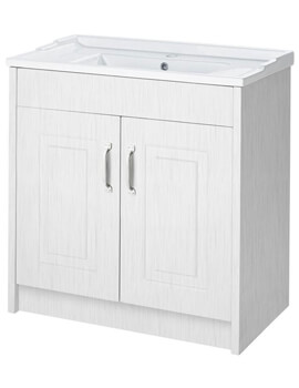Lauren York 800mm Floor Standing 2 Door Cabinet With Basin