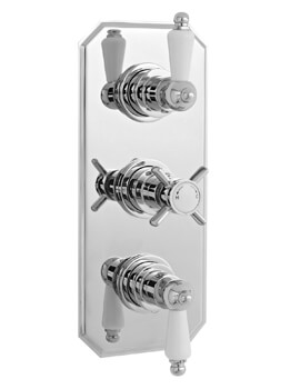 Nuie Edwardian Triple Concealed Thermostatic Shower Valve