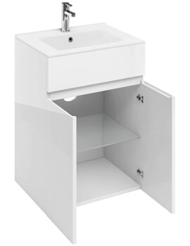 Britton D45 600mm Double Door Unit With Basin