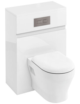 Britton D30 600mm Back To Wall WC Unit With Cistern And Dual Flush Plate