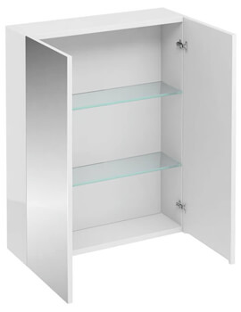 Britton 600mm Double Mirrored Door Wall Hung Cabinet