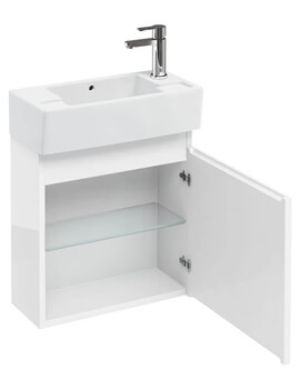 Britton Compact 250mm Wall Hung Unit With Right Hand Basin