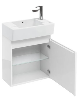 Britton Compact 305mm Wall Hung Unit With Right Hand Basin