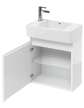 Britton Compact 305mm Wall Hung Unit With Left Hand Basin